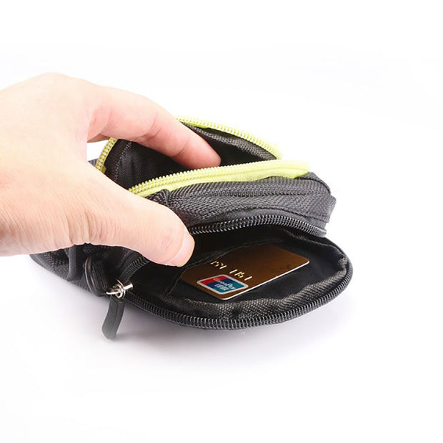Two Layer Multi-function Waist Pack Climbing Portable Protect Pouch Bag For IPhone XS MAX X 8 7 Outdoor Sports Pouch Wallet Case