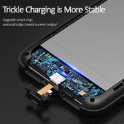 USAMS Smart Battery Case Charger For IPhone XR XS Max,Battery Case External Power Bank Backup Powerbank For IPhone X XS