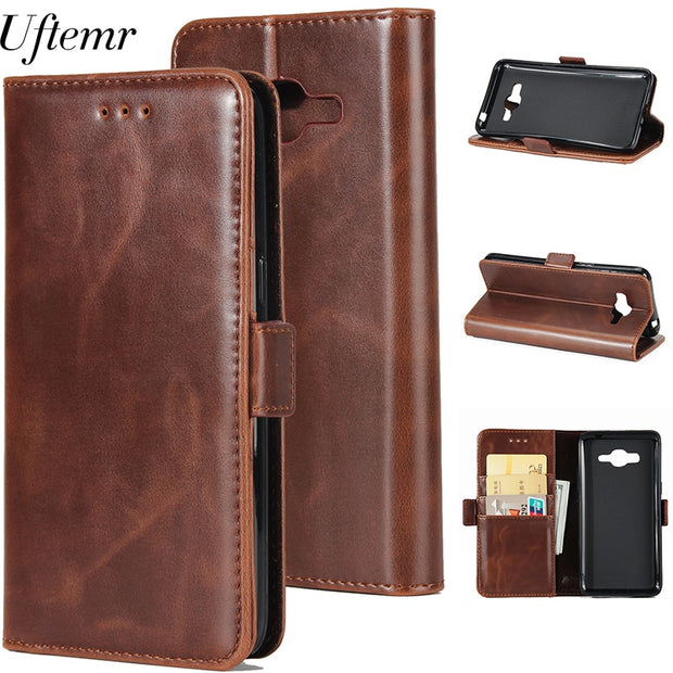 Uftemr Wallet Cases For Samsung Galaxy J2 Prime Coque Fundas Etui Capinha Hoesje Carcasa Leather Case Cover Card Slots