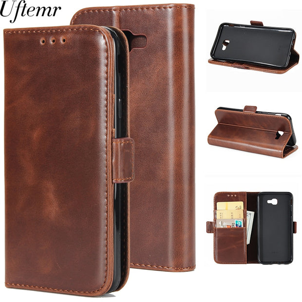 Uftemr Wallet Cases For Samsung Galaxy J5 Prime Coque Fundas Etui Capinha Hoesje Carcasa Leather Case Cover Card Slots