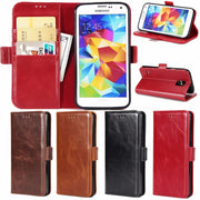 Uftemr Wallet Cases For Samsung Galaxy S5 I9600 Coque Fundas Etui Capinha Hoesje Carcasa Leather Case Cover Card Slot