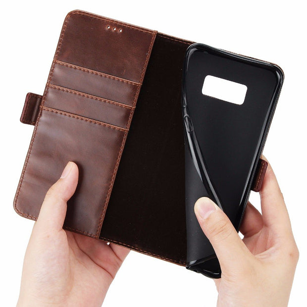 Uftemr Wallet Cases For Samsung Galaxy S8 Plus Coque Fundas Etui Capinha Hoesje Carcasa Leather Case Cover Card Slot Stand