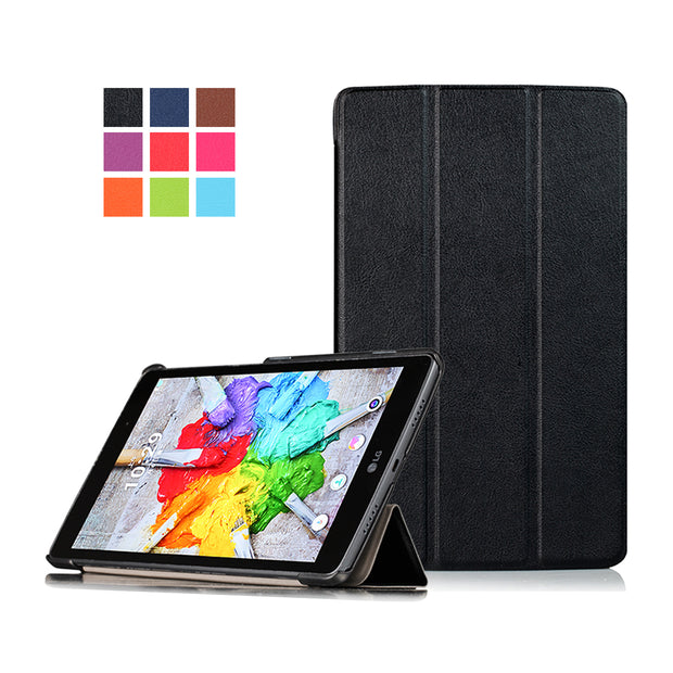 Ultra Slim Magnetic Stand PU Leather Case Cover For LG Gpad G Pad 3 8.0 V525 8 Inch Tablet Protective Case+Film+Stylus Pen
