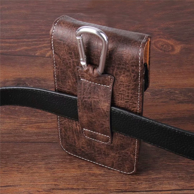 Universal Belt Clip Leather Wallet Phone Bags Case For Allcall S1 Mix 2 Madrid Atom Alpha Rio S T9 Pro Bro A1 With Card Slots
