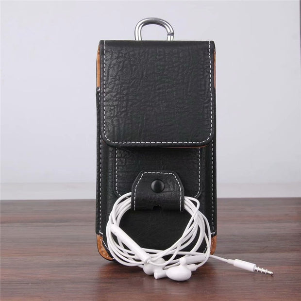 Universal Belt Clip Leather Wallet Phone Bags Case For Assistant AS-503 Target AS-502 Shot AS-501 Club With Card Slots