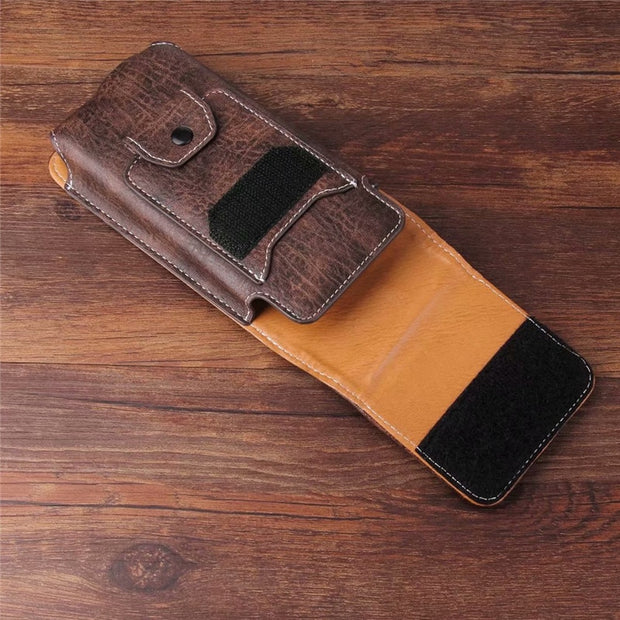 Universal Belt Clip Leather Wallet Phone Bags Case For Coolpad Cool Play 7 6C 6 M7 2 1 Note 6 Mega 4A A1 Roar 5 With Card Slots
