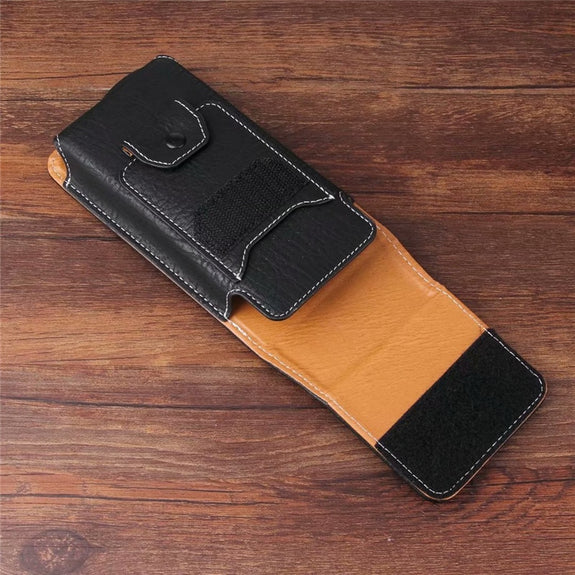Universal Belt Clip Leather Wallet Phone Bags Case For