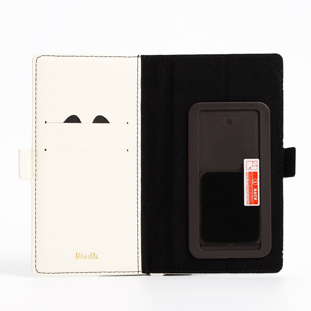 Universal Magnetic Flip Leather Wallet Case Cute 3D Hollow Little Cat Cover For Huawei P8 P9 Lite P10 Lite P20 Lite Honor 8 9 10