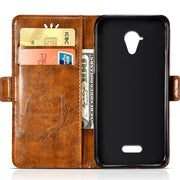 Vintage Embossing Leather Case For Wiko U Feel Prime Case Flip For Wiko U Feel Lite Cover Silicone Soft Mobile Phone Bag Shell