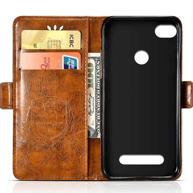 Vintage Embossing Leather Case For Xiaomi Redmi 3S 3X Case Flip For Xiaomi Redmi 3 Pro Cover Silicone Soft Mobile Phone Bag