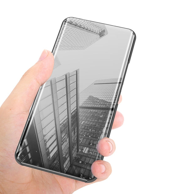 Vivo V7 Plus Case Luxury Smart Transparent View Mirror Leather Flip Shell Stand Cover Case For Vivo Y79 Y69 Y75 Fundas Coque