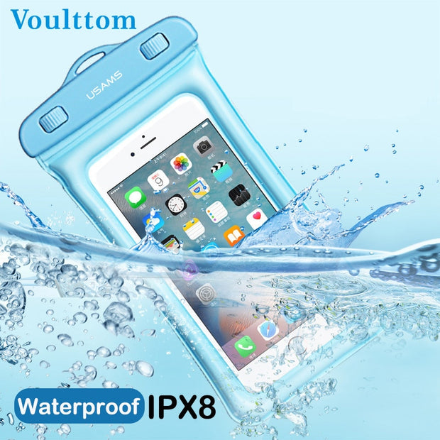 Voulttom Waterproof Phone Bag Floating Cellphone Dry Bag 6 Inch Compatible For IPhone X/8 Plus/8/7/6, Samsung Note 8/S8+/S8