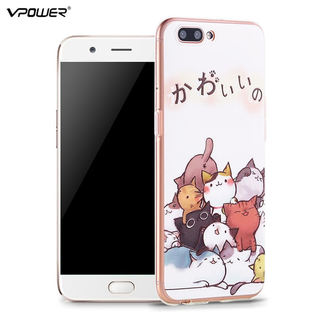 Vpower 3D Relief Animal Case OPPO R11 Back Cover Slim Silicone Transparent Case OPPO R11 Plus Case