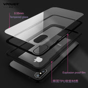 Vpower Tempered Glass Case For IPhone X Back Cover Luxury Hybrid Protector Hard Housing For IPhone X 10 Phone Glass Cases