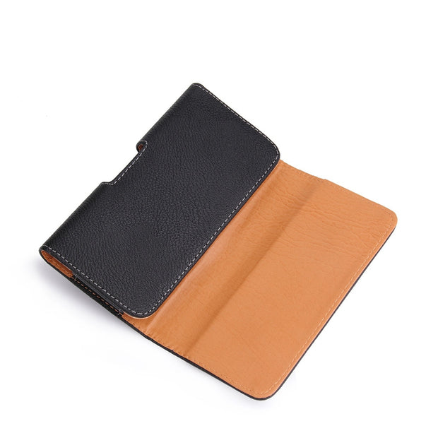 Waist Hang Phone Bag PU Leather Pouch Holster Belt Clip Cover For Iphone 6 6S 5 5S 6 Plus 7 8 Pocket Black Case 4.7 & 5.5 Inch