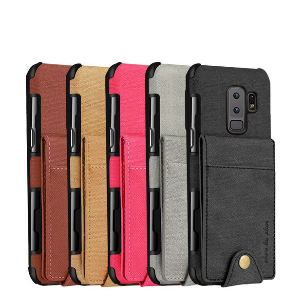 Wallet Design 2 In 1 Magnetic Detachable Vintage Leather Flip Wallet Case For Samsung S8 S9 Plus Cover For Samsung Galaxy Note8