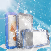 Waterproof Phone Cases For IPhone 8 7 6s Plus Phone Screen Soft TPU Swimming Diving Underwater Case For IPhoneX 5 5s Cover Shell