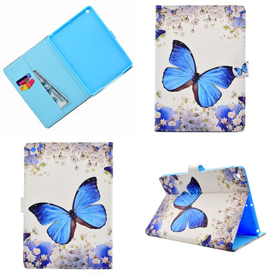 Wolf Butterfly Panda Fox Deer Flower PU Leather Cover For I Pad 9.7 2017 Tablet Case Coque Kryty Etui Funda Pouzdra Tok Puzdra