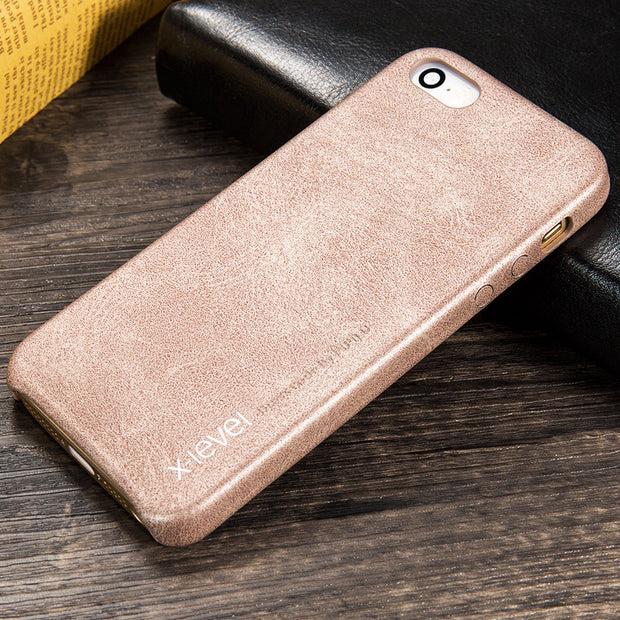 X-Level Case For Iphone 5s SE Leather Case Cover Luxury Soft Vintage Back Cover Business Style Original Case For Iphone 5 SE 5S