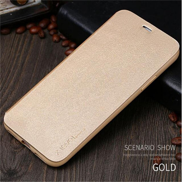 X-Level Flip PU Leather Case For IPhone XS X 5.8 10 Stand Phone Back Cover Casefor IPhone Xs Max 6.5 / XR 6.1 Inch Phone Case