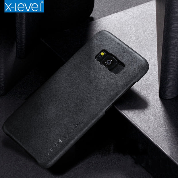 X-Level Leather Case For Samsung Galaxy S8 S9 Phone Accessories Luxury PU Leather Cover Case For Samsung Galaxy S8 S9 Plus Case