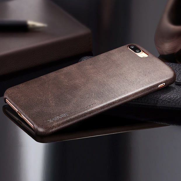 X-Level Leather Case For IPhone 6 6s 7 8 Cover Soft Touch Luxury Original PU Leather Case For IPhone 6 6s 8 7 Plus Case Cover
