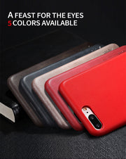 X-Level Leather Case For IPhone 7 8 Original Case Soft PU Vintage Luxury Business Back Cover Case For IPhone 7 8 Plus