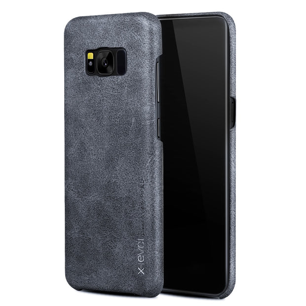 X-Level Leather Case For Samsung Galaxy S8 Ultra Thin Luxury PU Shockproof 360 Full Protection Cover Case For Samsung S8 Plus