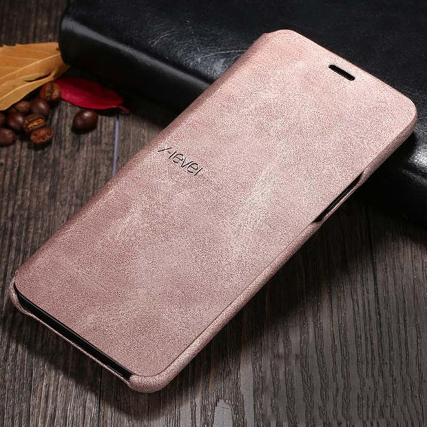 X-Level Luxury Classic Flip Retro Leather Case For Samsung Galaxy S9 S9 Plus Full Protection Phone Flip Cover