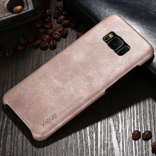 X-Level Luxury Leather Case For Samsung Galaxy S8 Ultra Thin Light Original Phone Back Case Cover For Samsung Galaxy S8 Plus