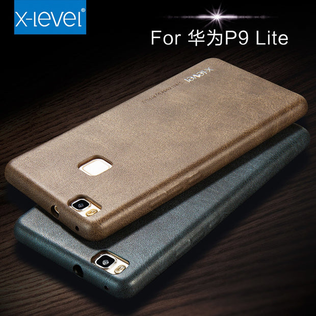 X-Level Retro Case For Huawei P9 Lite Luxury Original Ultra Thin Light Business Back Phone Cover Case For Huawei P9 Lite