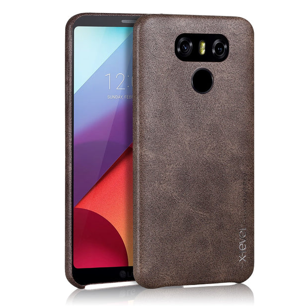 X-Level Retro Soft PU Leather Case For LG G6 Luxury Vintage Ultra Thin Light Business Back Cover Case For LG G6