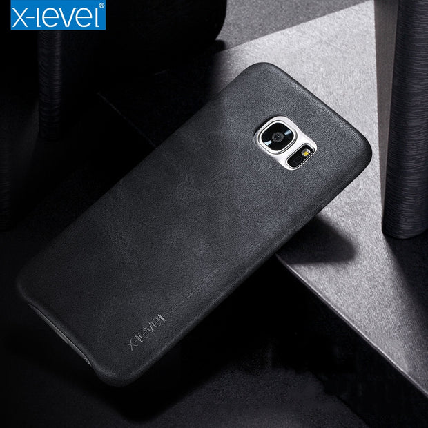 X-Level Vintage PU Leather Case For Samsung Galaxy S6 S7 Edge Luxury Back Case For Samsung Galaxy S7 S6 Edge Plus