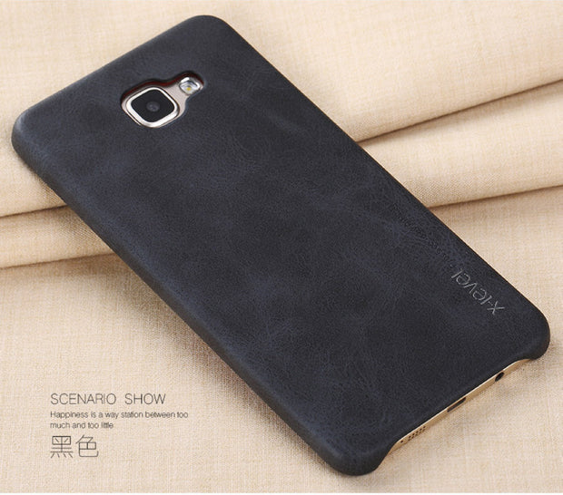 X-Level Vintage Phone Case For Samsung Galaxy A9 Luxury PU Leather Back Case Cover For Samsung A9 2016 A9000