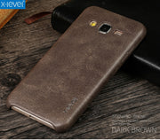 X-Level Vintage Phone Case For Samsung Galaxy J3 2016 J320 J320F Luxury PU Leather Back Case Cover
