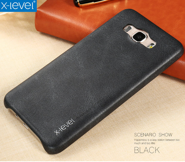 X-Level Vintage Phone Case For Samsung Galaxy J7 2016 J710 J710F Luxury PU Leather Back Case Cover