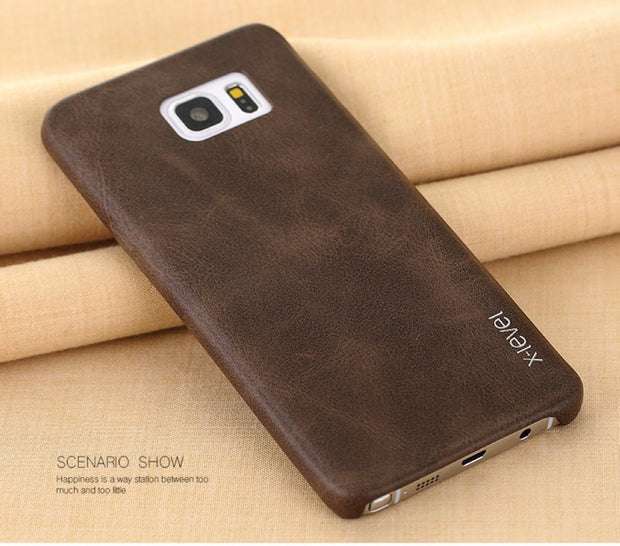 X-Level Vintage Phone Case For Samsung Galaxy Note 5 N9200 Luxury PU Leather Back Case Cover