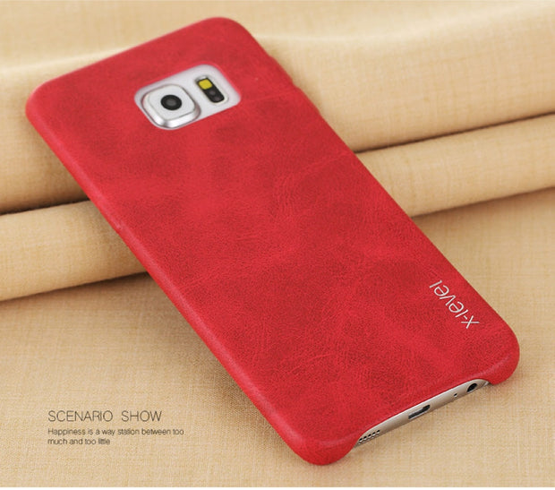 X-Level Vintage Phone Case For Samsung Galaxy S6 / S6 Edge / S6 Edge Plus Luxury PU Leather Back Case Cover