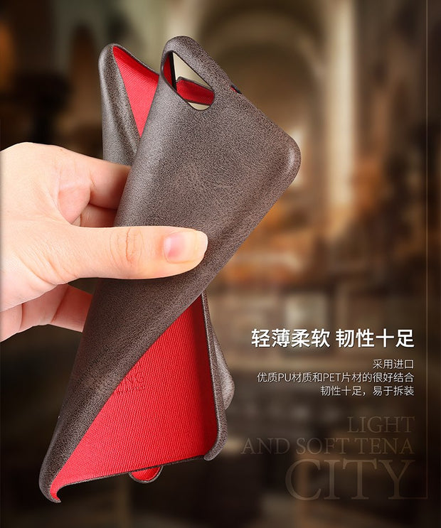 X-Level Vintage Phone Case For Xiaomi Mi 6 Luxury PU Leather Back Case Cover For Xiaomi Mi6