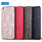 "X-Level Vintage Phone Case For IPhone 6 6S Plus 5.5"" Luxury PU Leather Back Case Cover"