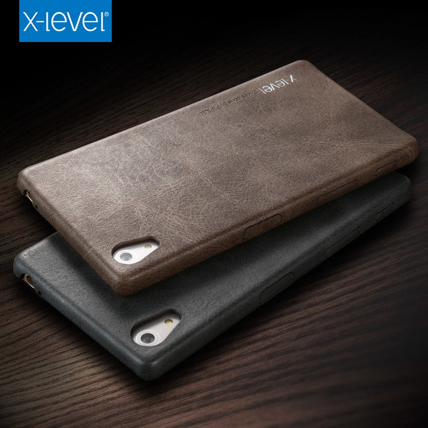 X-level Leather Case For Sony Xperia Z5 Back Cover High Quality PU Ultra Slim Business Full Protection Cover Case For Sony Z5