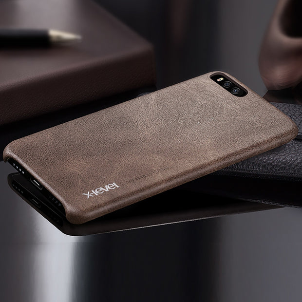X-level Leather Case For Xiaomi Mi 6 MI6 Luxury Pu Ultra Thin Shockproof 360 Full Protective Back Cover Case For Xiaomi MI 6