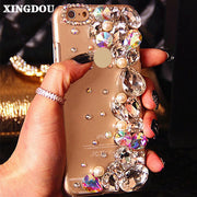 XINGDUO Pearl Cell Phone Case 3D Cover For IPhone 7 6 6S Plus 5 5S SE 5C Samsung Galaxy Note 7 5 S7 S6 Edge Plus S5/4/3 A8/7/5