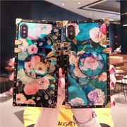 XINGDUO For Iphone X XS MAX XR Case Fashion Metal Frame Flower Fit Girly Cover Case For Iphone 5 5s Se 6 7 8 Plus