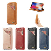 XINGDUO Ultra-thin Wallet Phone Case For IPhone 7 7 Plus XS MAX XR Leather Handbag Bag Cover For IPhone X 7 8 6s 5S Case Coque