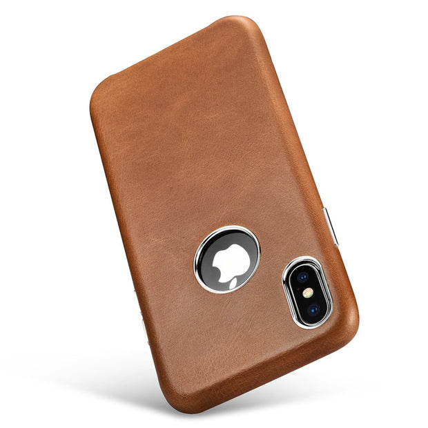 XOOMZ Luxury Genuine Leather Case For IPhone XS Max Cover Plating Hard Business Case Back Coque For IPhone X XS Phone Case