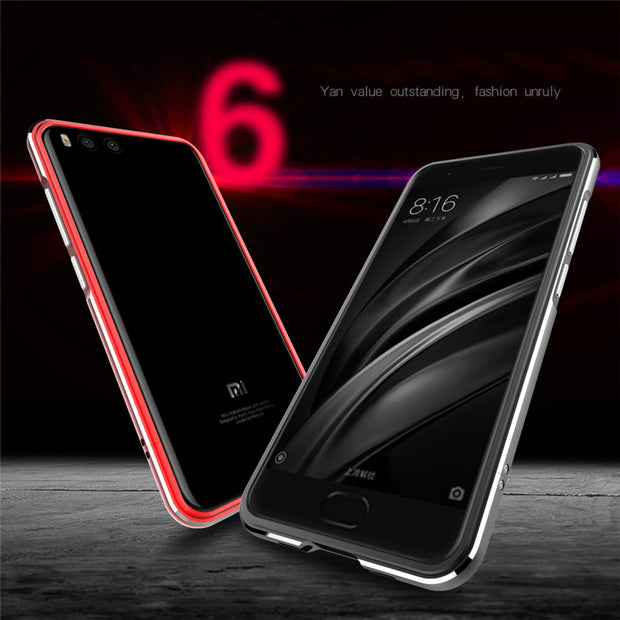 Xiaomi Mi 6 Bumper High Light Metal Frame With Screws Case Cover For Xiaomi Mi6 Mi 6 M6 Ultra Thin Aluminum Bumper Cases Covers