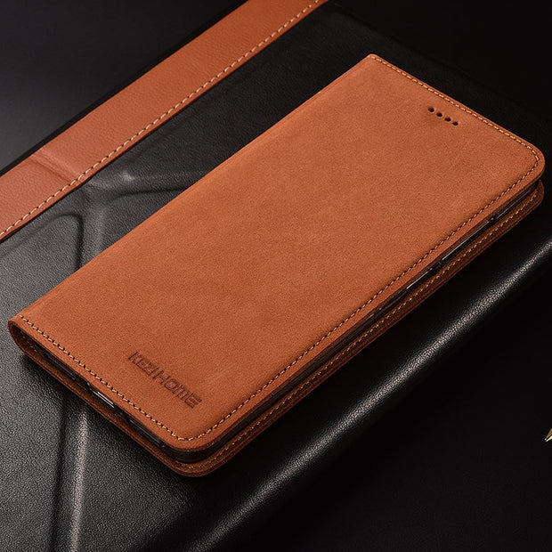 Xiaomi Mi Max 3 Case Flip Matte Genuine Leather Soft TPU Back Cover For Xiaomi Mi Max 3 Cases