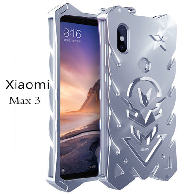 Xiaomi Mi Max 3 Luxury Metal Aluminum Phone Case Zimon Shockproof For Xiaomi Mi Max 3 Protection Metal Armor Case