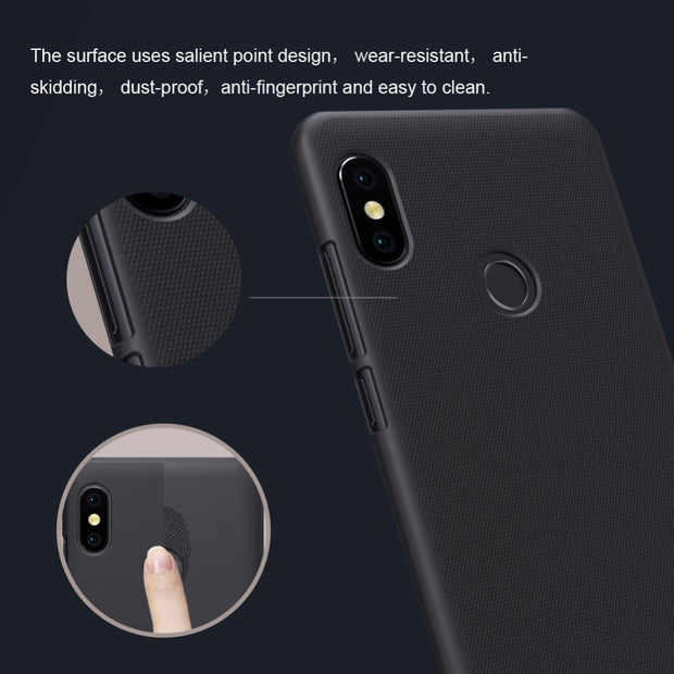 Xiaomi Redmi Note 5 Case NILLKIN Frosted PC Hard Back Cover Case For Xiaomi Redmi Note 5 Pro Global Version 5.99 Inch